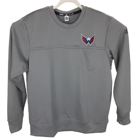 adidas Mens XL Gray Washington Capitals Sweatshirt